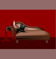 Intimate red room vector