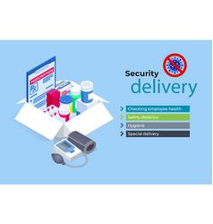 Isometric free drug delivery covid-19 quarantine vector