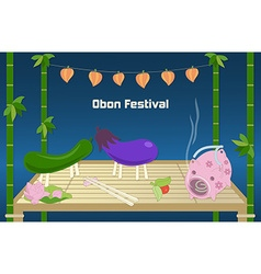 Japanese summer Bon Festival background vector
