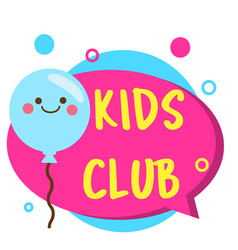 Kids zone banner colorful label with cute kawaii vector