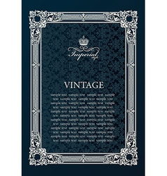 Label frame Vintage antique decor ornament vector image