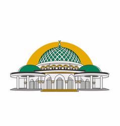 Lampung capital mosque vector