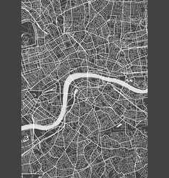 London city plan detailed map vector