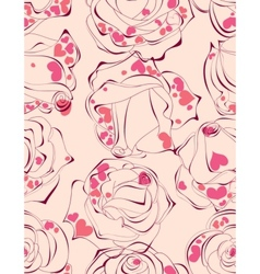 love roses seamless pattern vector image vector image