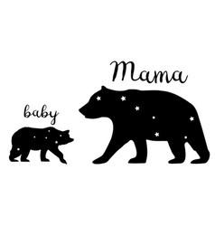 mama bear and babear vector image