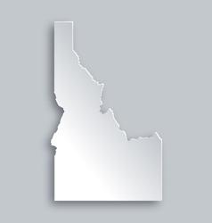 Map of Idaho vector image