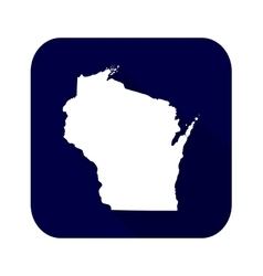map us state wisconsin vector image