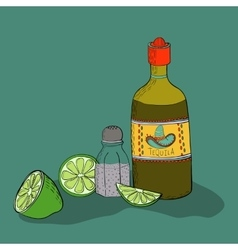 Mexican background with tequila vector