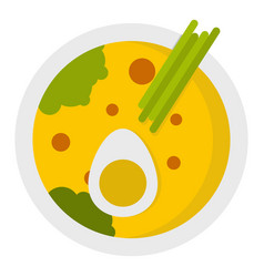 Miso soup icon isolated vector