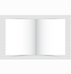 mockup of opened blank square ctalogue at white vector image