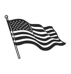Monochrome american flag template vector