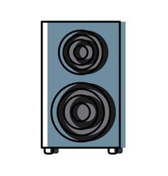music speaker device vector image