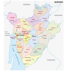 new administrative map burundi vector image