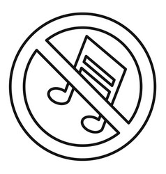 No music note icon outline style vector