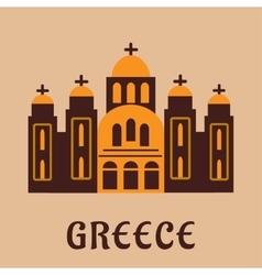 Old greek church flat icon vector