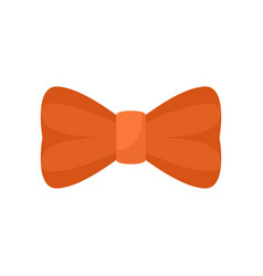 Orange bow tie icon flat style vector