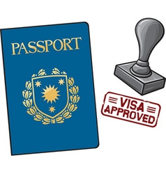passport visa approved vector image