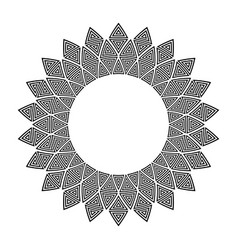 Pattern in circle frame s vector