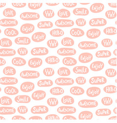 Pink lettering pattern vector