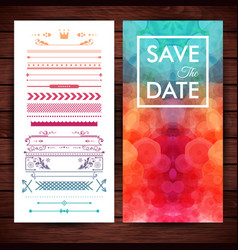 save the date template with elegant borders vector image