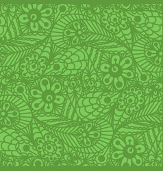 Seamless flower paisley lace pattern vector