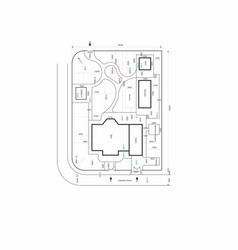 Settlement land draft plan cottage land vector