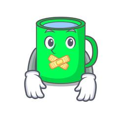 Silent mug mascot cartoon style vector