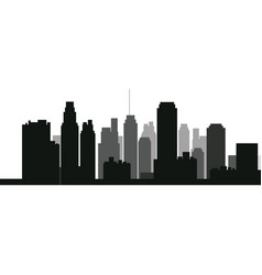 Silhouette skyscraper building urban skyline vector