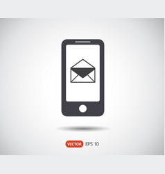 smartphone icon phone logo mobile envelope mail vector image
