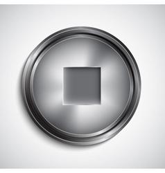 Stop button vector