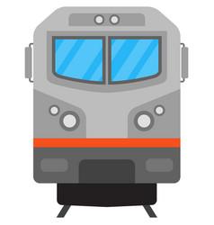 suburban electric train railway transport vector image