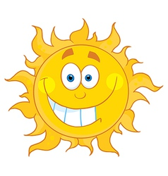 Sun Cartoon Character vector image