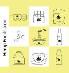 template hemp icon vector image