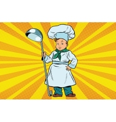 The little boy cook vector image