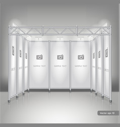 Trade exhibition stand display vector