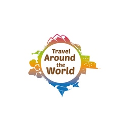 Travel Around The World Logo vector image