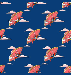 unknown flying object seamless pattern vector image