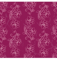 vector seamless a flower background vector image