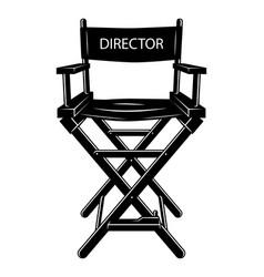 vintage monochrome movie director chair concept vector image