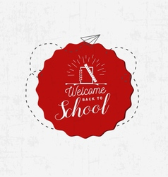 Welcome Back to School Badge vector image