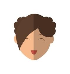 Woman head icon Person design graphic vector image