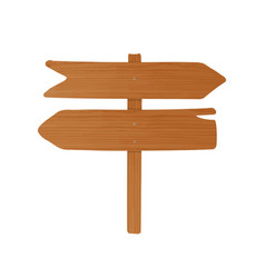 wooden signboard or guideboard made of pointed vector image