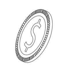 coin business money symbol icon vector image vector image