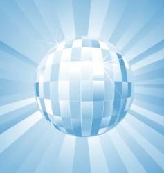 disco mirror ball vector image vector image