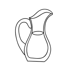 filled jug icon image vector image