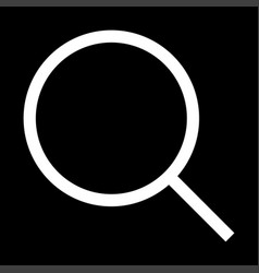 magnifying glass or loupe the white color icon vector image vector image