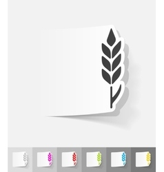 realistic design element ear of wheat vector image vector image
