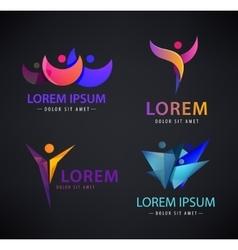 set of man logo human leadership vector image
