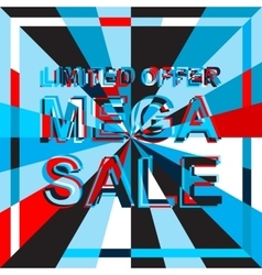 Big ice sale poster with limited offer mega sale vector