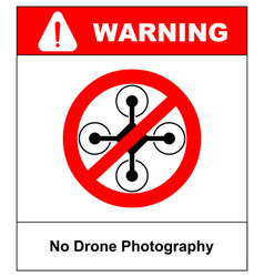 No fly drones sign no fly zone drone sign vector
